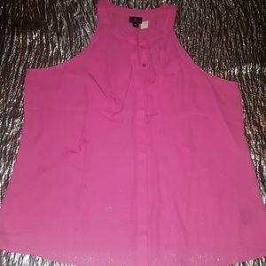 #569 WORTHINGTON Pink LightWeight Slvlss Bttn Dwn